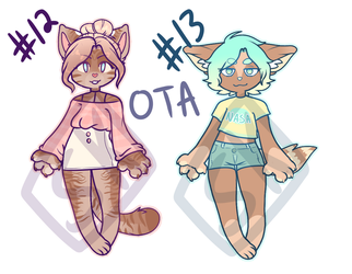 Adopt 12-13 OPEN by SnazzyKattAdopts
