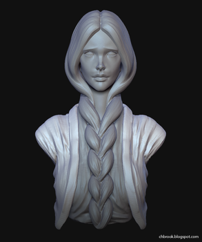 Daily Sculpt 6 - Unohana by TheGuidance