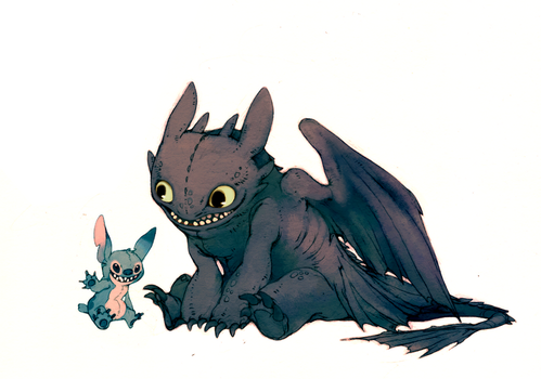 Toothless and...... by Luce-in-the-sky