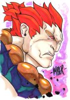 Akuma Marker Sketch(1) by RecklessHero