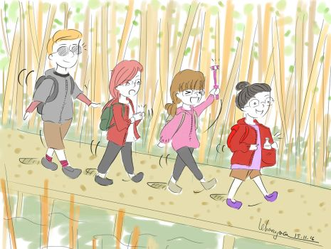 Walk through forest by luckyducky1402