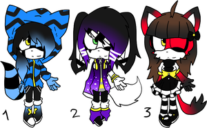 Sonic Chibi Adoptables by Sky-Yoshi