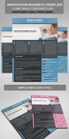 innovation Corporate PSD Flyer Template by idesignstudio