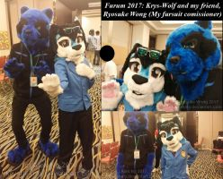 Fursuiters - Me and Ryosuke at Furum 2017 by krystlekmy