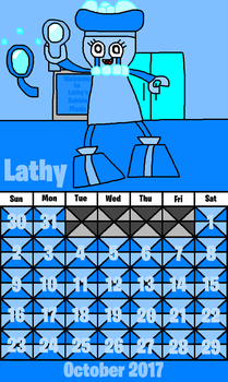 October 2017 of The Mixels Show Calendar by Luqmandeviantart2000