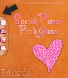 Skin Social Panel Pink Glass for Rainmeter by a-Sonrix