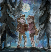 Dipper and Mabel - Gravity Falls by DreamyNatalie