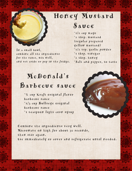 Honey Mustard and Barbecue sauce recipe by eberlins