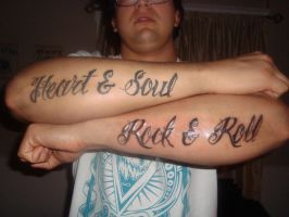 Heart and Soul Rock and Roll by ElTattooArtist