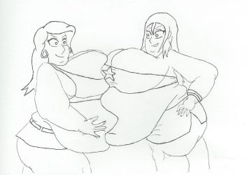 fat press Lois and Francine by dilios999