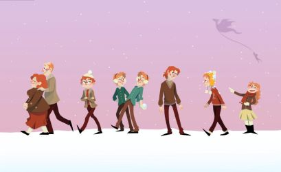 Weasley Winter by HumorlessPoppycock