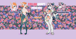 COLLAB ADOPTS: Sweet Dragon n Marshmallow Wolfy by Lady-Holdren