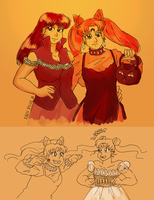 Halloween Ladies by ErinPtah