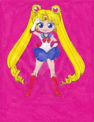 Sailor Moon by ilovepinkhair
