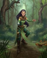Elf rogue by M-Whistler