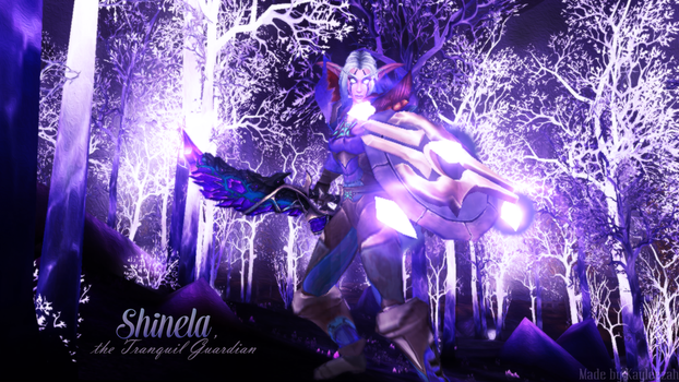 Shinela, the Tranquil Guardian Wallpaper by Kaylee99