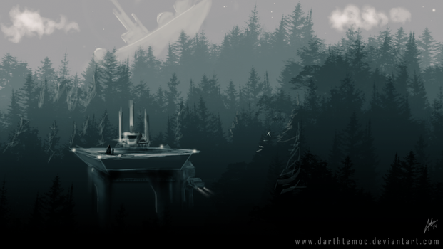 Endor Imperial Outpost by DarthTemoc