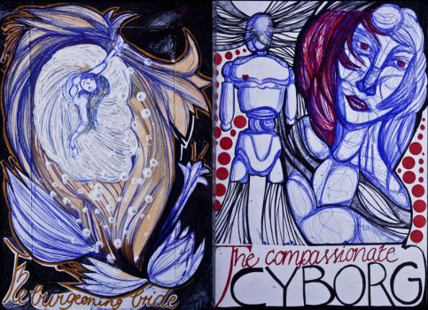 The Sketchbook Project 2013 - B and C by Nakilicious