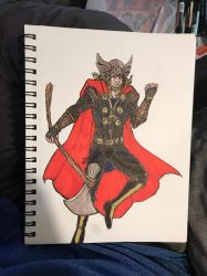 My version of The Mighty Thor fan art by leo-darkheart