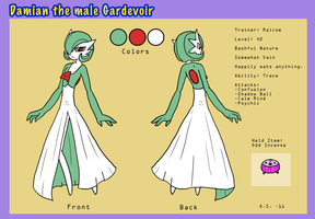 Damian the Gardevoir bio-ref by The-Clockwork-Crow