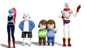 .:Some MMD Undertale Thingy-ma-bob:. by coolskeleton69