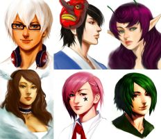 +Portraits Pack+ by Orenji-kun