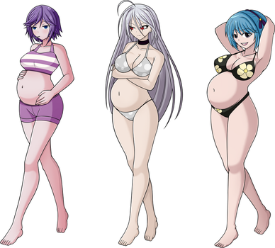 Rosario+Vampire Maternity Swimsuit Show by TheEldritchPrince