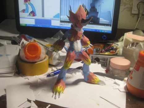 Flamedramon papercraft by Zimberdum