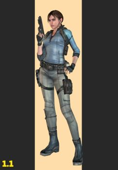 XPS - REV1 - Jill Valentine B.S.A.A Outfit. by henryque999