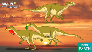 Walking with Dinosaurs: Muttaburrasaurus by TrefRex