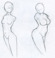 Two body types. by ProphetGeist