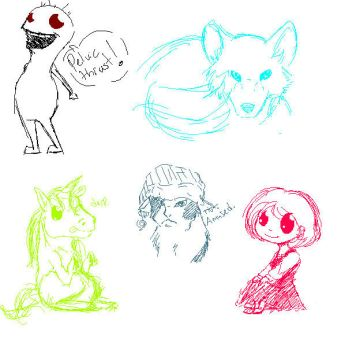 5 Free Sketches by AnimeVSReality