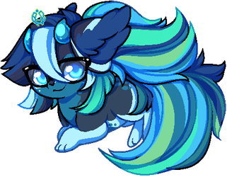 Binary Chibi: Adorable Blue by OMGProductions