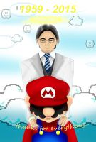 R.I.P Satoru Iwata thanks for everything by JuankosoCrappyArt