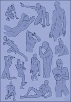 Poses - Male Sheet by Rosaka-Chan