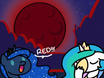 Blue Moon, Red Moon(GIF) by FlutterLuv