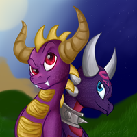 Skylanders-Spyro and Cynder by ROXDragonz