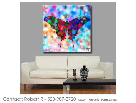 Butterfly Print Abstract Water Color Paintings Art by robertrpaintings