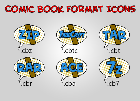 Comic Book Format Icons by RobinLe