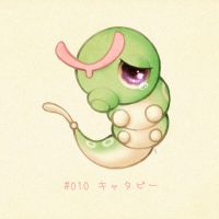 #010 Caterpie - Kyatapii