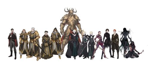 GW2 themed characters sketches by Tarakanovich