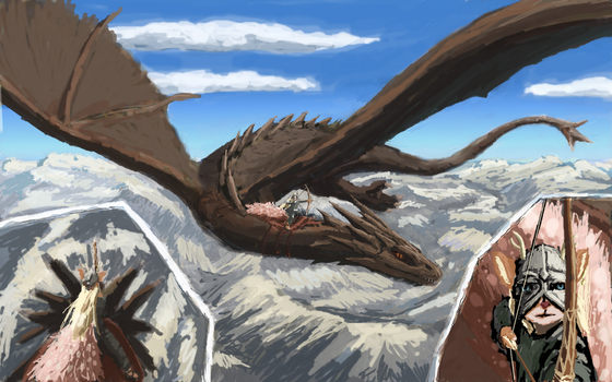 Commission: Smaug and Belle by erenik