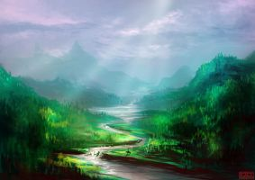 Mountains by kovah