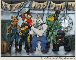 RocketWolfGang Past by TheInsaneDingo