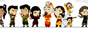 The Chibi Krew by SheWhoWalksWithThee