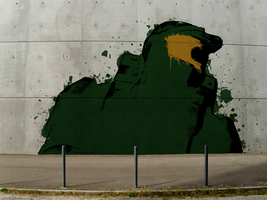 Master Chief Graffiti by Biggiepoppa