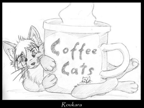 Coffee cat Roukara by Mutabi