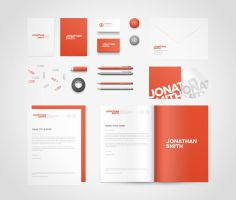 Bird's Eye View Stationery Mock-up by erigongraphics