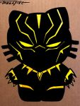 Black Panther Gold by Tom Kelly by TomKellyART