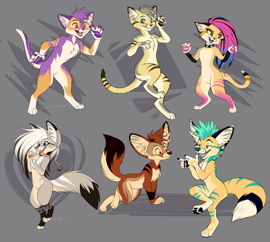 [SOLD] Sandcat and Fennec character sale by SilverDeni